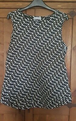 NEXT Maternity top 12 Black White Green Sleeveless Top Vest