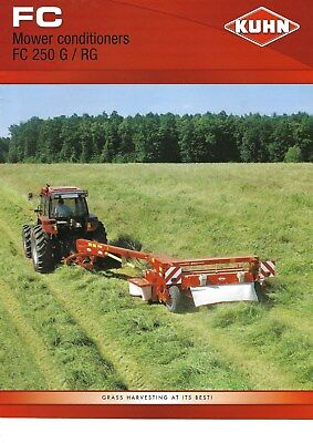 NEW LISTING - Kuhn FC250 Trailed Mowers Sales Brochure  - 2006