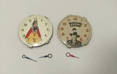 Timex Cinderella & Hopalong Cassidy - Lot of Vintage NOS Dials and Hands