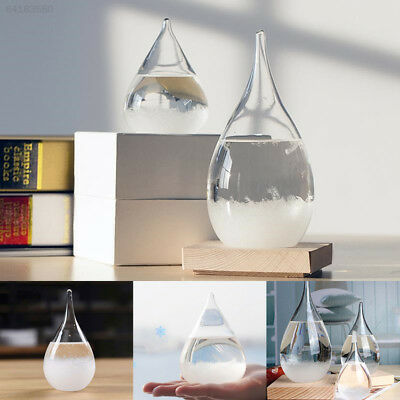 7C1F Weather Forecast Crystal Drops Water Shape Storm Glass Home Decor Friends G