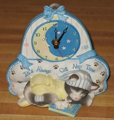 L@@k Calico Kitten It's Always Nap Time Clock