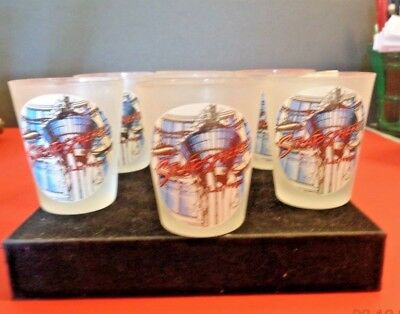 Stratosphere Hotel Casino Las Vegas Frosted Shot Glass Nwt One (1) + Bonus