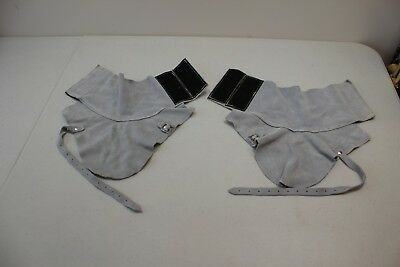 Split Leather spats protective shoe covers for welding metal working etc.