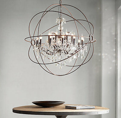 Restoration Hardware Authentic Foucault's Orb Crystal Chandelier