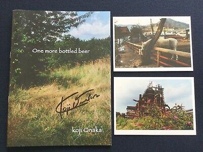 KOJI ONAKA One more bottled beer 2014 Signed Japanese Photobook