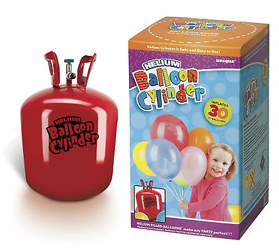Medium Helium Gas Disposable Cylinder - Fills 30 Balloons - Party Latex Canister