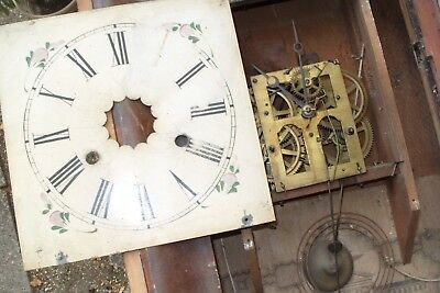 clock parts JEROME CLOCK MOVEMENT WORKS  HANDS , DIAL ,   GONG ,
