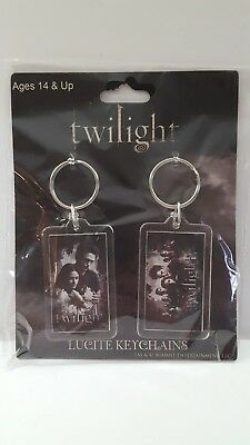 Neca Twilight Saga Twilight Movie Lucite Keychains Edward Bella & Cast New