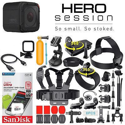 GoPro HERO4 Session + Sports Accessories Kit Bundle + 16GB SD Card (40+ Pcs)