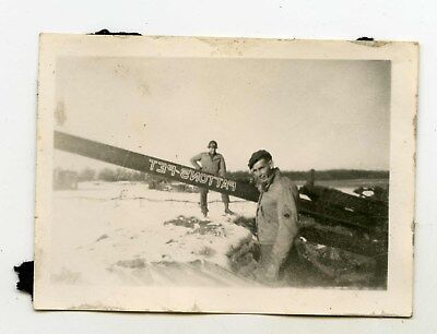 "Original photo of US artillery named ""pattons-pet"" Battle of the bulge. ETO"