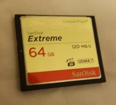 SanDisk CompactFlash Card extreme 64gb 120mbs