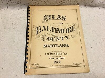 1877 Atlas of Baltimore County Maryland 1971 Reprint  Road Maps