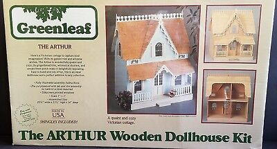 """GREENLEAF THE ARTHUR WOODEN Victorian DOLLHOUSE KIT - BOX SEALED SCALE 1"""" : 1'"""