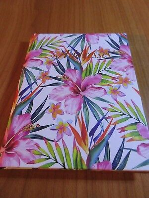 Address Book Pink Hibiscus Hardcover 130mm X 100mm free postage in stock