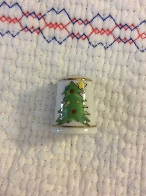 Sewing Thimble Vintage collection, Ceramic Hand Make 24K Gold Trims