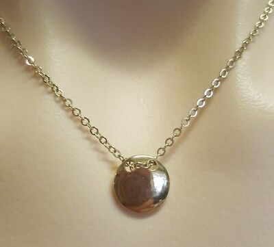 WOMENS VINTAGE gold circle PENDANT + dainty adjustable chain NECKLACE! LOVELY!