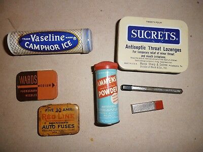 7 Advertising Tins With 1930's - 1960's