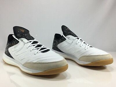 1250a5ea2028 Adidas Copa Tango 18.1 TR Indoor Soccer Shoes White Black Gold Mens Size  11.5
