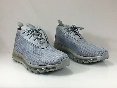 NIKE AIR MAX Woven Boot Wolf Grey White Mens Size 9