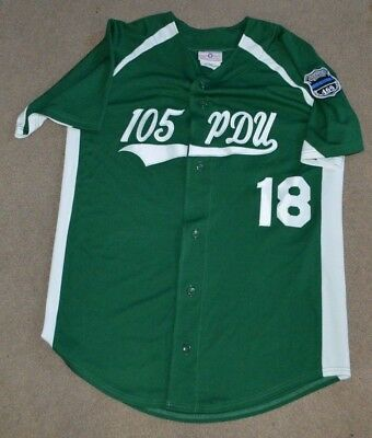NYPD 105th Precinct Game Worn Used Baseball Softball Jersey Queens Village NY