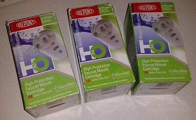 DuPont 4-Phase Faucet Mount Filter Cartridges, # WF-FMC100x 100 Gallon -  3 PACK