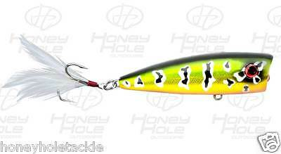 """laserlure popper LP-1 3.27/"""" .79 oz surface topwater Indescent Clear Citrus Shad"""
