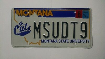 "Montana State University ""Go Cats"" license plate. Nice!"