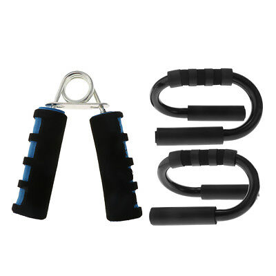 Pair Push-up Exerciser Stands Bar with Hand Forearm Strength Trainer Gripper