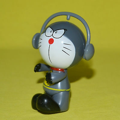 Mini Doraemon figure doll toy 3 inch H Grey collectible ornament very cute gift