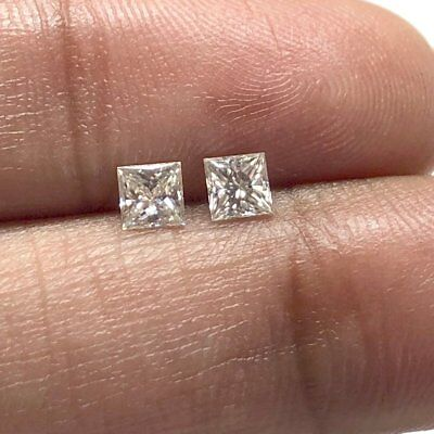 0.36CTW 3.4MM Princess Cut Moissanite Matched Pairs Diamond For Jewelry MM140/10