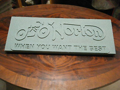 Rare Norton When You Want The Best Motorcycle Sign Hard Foam 3D 25 X 9 Harley