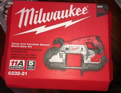 Milwaukee Deep Cut Portable Variable Speed Band Saw with Case 6232-21 New