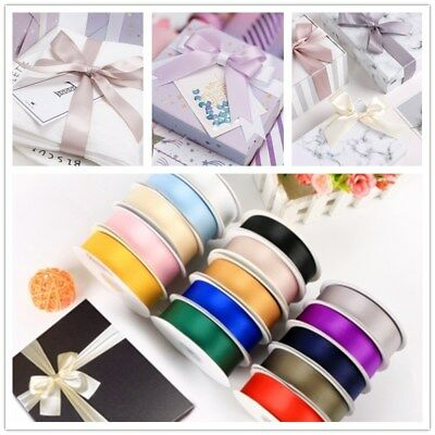 25 Yards Satin Ribbon Roll Pack for Party Home Wedding Car Gift Wrapper 15 Color
