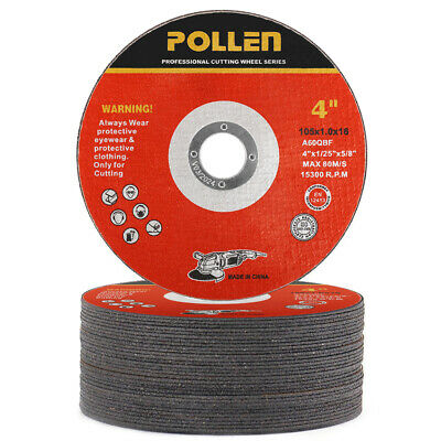 25Pcs 4'' Resin Cutting Wheel Fiber Reinforced Resin Cutting Disc Grinding Wheel