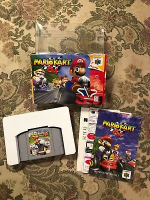 Mario Kart 64 (Nintendo 64, 1997) N64 Complete In Box Authentic !!