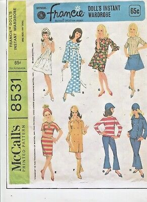 Vintage -1966-Barbie -Francie Etc.  Doll - Outstanding Wardrobe Pattern -#7