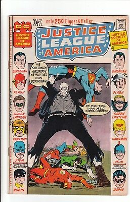 Justice League of America #92 (1971) 7.0 JSA crossover, New Robin costume