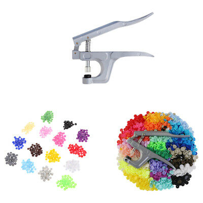 150 Sets Kam Snap Kits Plastic Snaps Fastener Buttons Press Stud Set Size T5