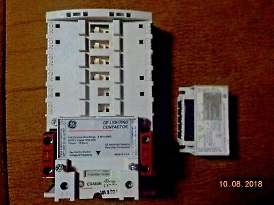 GE General Electric CR460B 120V Lighting Contactor Base/ CR460XMN Control Module