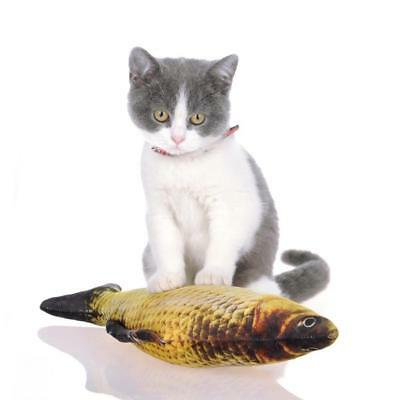 Sale Funny Pet Kitten Cat Fish Shape Mint Grass Chewing Play Catnip Scratch Toy