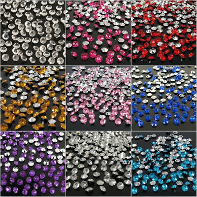 2000PCS Wedding Decorations Scatter Gem Table Crystal Diamonds Acrylic Confetti