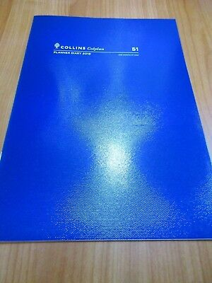 COLLINS COLPLAN 2019 1 Year A4 Planner Diary 1 Month to View  BLUE free postage
