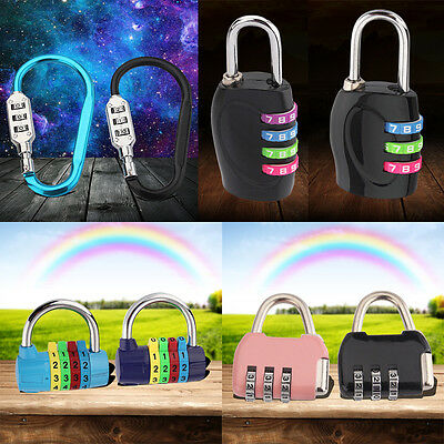 3/4 Dial Digit Combination Door Luggage Suitcase Code Password Padlock Lock