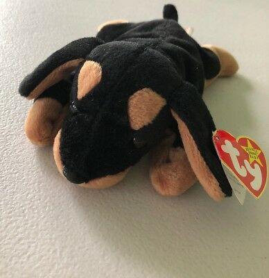 493669000c8 TY DOBY THE Doberman Dog Beanie Baby Hang Tag Beanie Babies -  5.99 ...