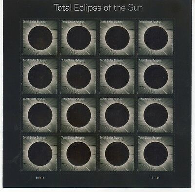 #5211 - Total Eclipse of the Sun - Sheet of 16 with Protective Envelope -MNH