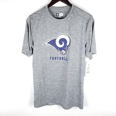 NFL Team Apparel TX3 Cool Top Los Angeles Rams Heathered Gray Short Sleeve  Small 3bf6f4b30
