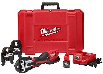 Milwaukee M12 12-Volt Lithium-Ion Force Logic Cordless Press Tool Kit (3 Jaws