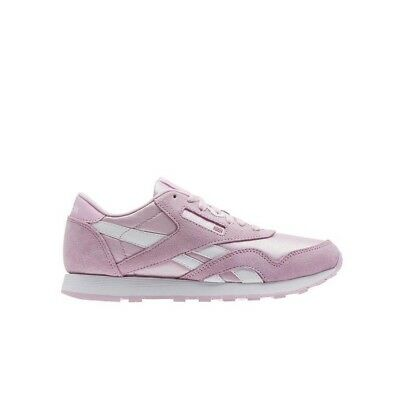 88ed3289196 Reebok Classic Leather Nylon (CHARMING PINK) Grade School Kids Shoes BS8677
