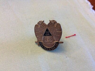 """Masonic Lapel Pin! 32 Spes Mea In Deo Est,  Meaning """"my Hope Is In God"""""""