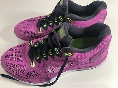 6ee683498ee9 Nike Lunarglide 5 Womens Running Shoes 599395-610 Training Pink Size 8.5